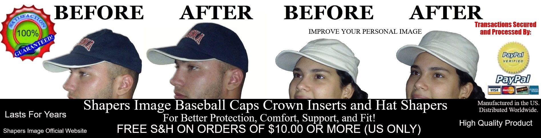 8d8f2099bd3 Shapers Image Baseball Caps Crown Inserts and Hat Shapers