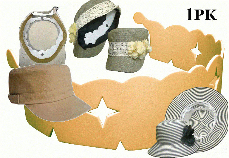 4004388d920104 THE STYLISH WRAP-AROUND HAT CROWN SHAPER: TO BE WORN WITH THE HAT. Only  $6.45 ea.